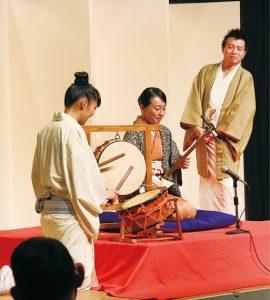 2019.12.19横浜にぎわい座・お囃子教室(林家なな子氏・柳沢きょう氏)